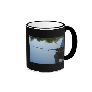 Pesca del hombre tazas de café