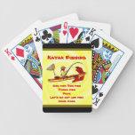Pesca del kajak cartas de juego