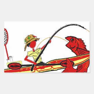 Pesca del kajak pegatina