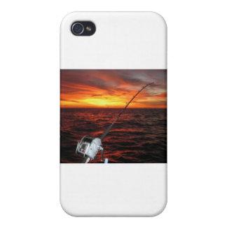 Pesca del mar abierto de la puesta del sol iPhone 4/4S fundas
