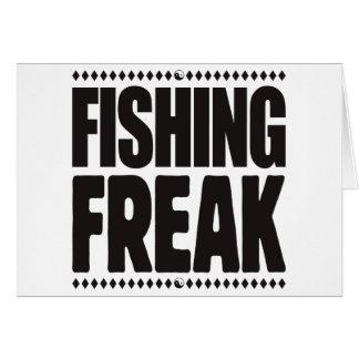 Pesca del monstruo tarjeta de felicitación