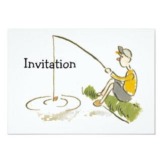 """Pesca del muchacho invitación 5"""" x 7"""""""