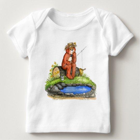 Pesca del oso de Zacarias - no mordiendo Playera De Bebé