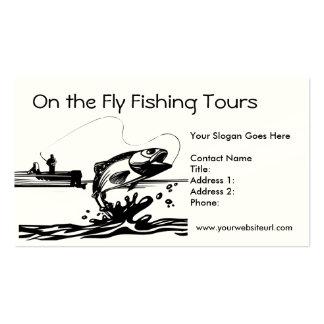 Pesca del pescador en plantilla de la tarjeta de v