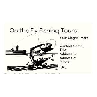 Pesca del pescador en plantilla de la tarjeta de v tarjetas de visita