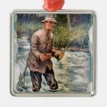 Pesca del río ornamento para arbol de navidad