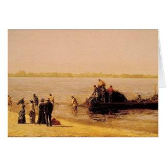 Pesca del sábalo de Thomas Eakins- en Gloucester Tarjetón