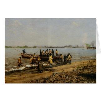 Pesca del sábalo de Thomas Eakins- en Gloucester Felicitaciones