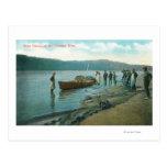 Pesca del Sena en el río de RiverColumbia, O Postal