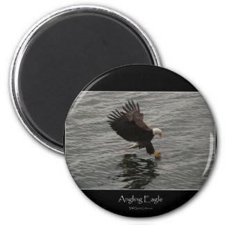 Pesca del sistema del regalo de Eagle calvo Imán Redondo 5 Cm