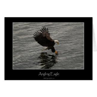 Pesca del sistema del regalo de Eagle calvo Tarjeta De Felicitación