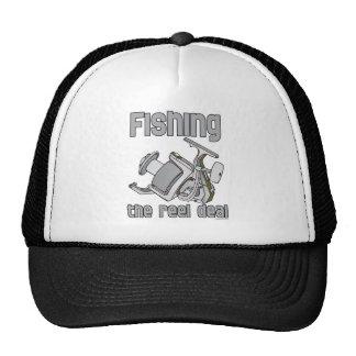 Pesca del trato del carrete gorra