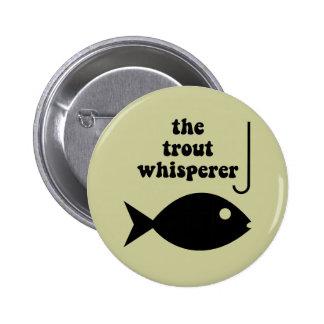 pesca del whisperer de la trucha pin redondo 5 cm