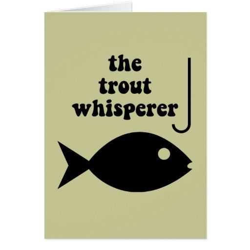 pesca del whisperer de la trucha tarjeta de felicitación