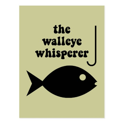 pesca del whisperer de los leucomas tarjeta postal