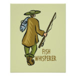 Pesca del Whisperer de los pescados Poster