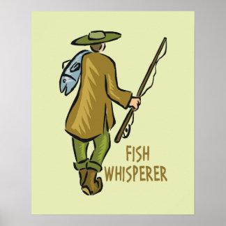 Pesca del Whisperer de los pescados Póster