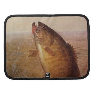 Pesca deportiva del vintage lago bocazas bass de organizadores