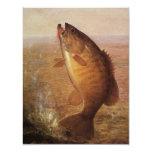 Pesca deportiva del vintage, lago bocazas bass de comunicado personal