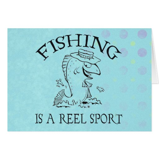 Pesca deportiva tarjeta de felicitación
