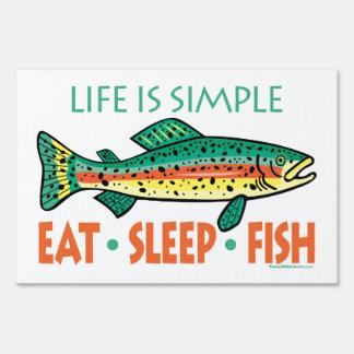 Pesca divertida de la trucha cartel