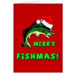 Pesca divertida del navidad felicitación