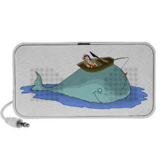 Pesca divertida en Doodle de la ballena Portátil Altavoces