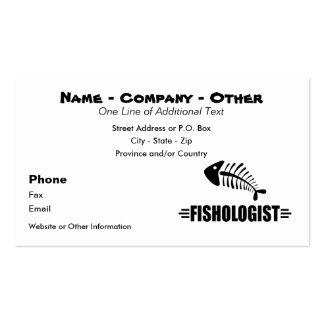 Pesca divertida tarjetas de visita