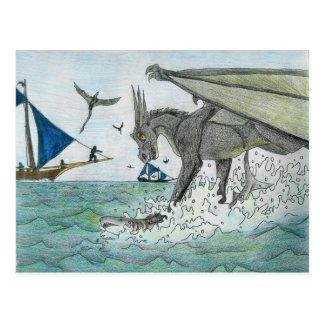 Pesca Drakoon Tarjetas Postales