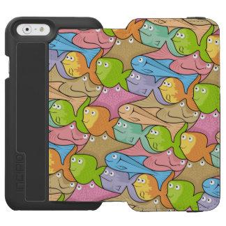 Pesca el dibujo animado funda billetera para iPhone 6 watson