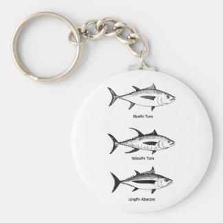 Pesca en alta mar - logotipo del atún llaveros