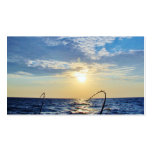 Pesca en el agua ondulada plantilla de tarjeta de visita
