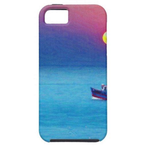 pesca en el arte de la oscuridad iPhone 5 carcasa