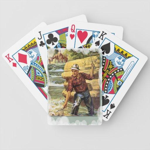 Pesca en el banco del río cartas de juego