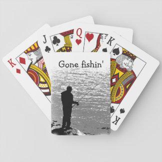 Pesca en el lago baraja de póquer