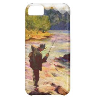 Pesca en la curva en el río funda para iPhone 5C