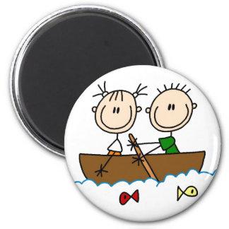 Pesca en la figura imán del palillo del barco