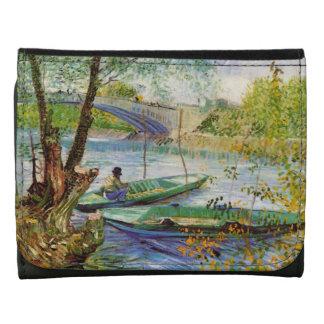 Pesca en la primavera, bella arte de Van Gogh del