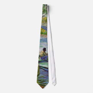 Pesca en la primavera, bella arte de Van Gogh del Corbatas Personalizadas
