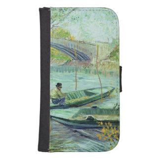 Pesca en la primavera. Pont de Clichy, 1887 Funda Tipo Billetera Para Galaxy S4