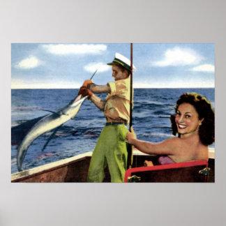 Pesca en mar profunda del Fort Lauderdale Posters