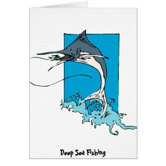 Pesca en mar profunda tarjeta de felicitación