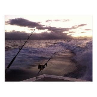 Pesca en mar profunda tarjeta postal