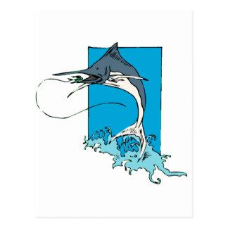 Pesca en mar profunda tarjetas postales