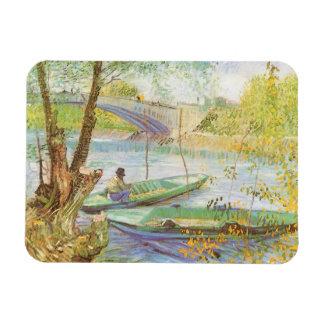 Pesca en primavera de Vincent van Gogh Imán De Vinilo
