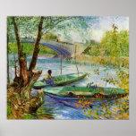Pesca en primavera de Vincent van Gogh Impresiones