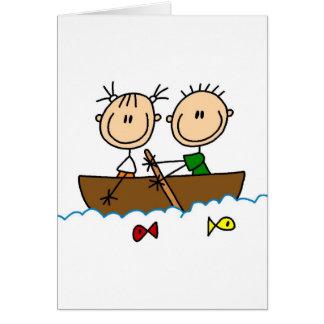 Pesca en tarjeta del barco