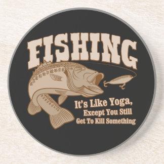 Pesca: Es como yoga, a menos que usted mate algo Posavasos Para Bebidas