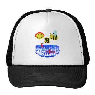 pesca feliz de 2 abejas. gorra