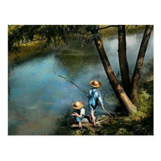 Pesca - Fishin ido - de 1940 Tarjeta Postal
